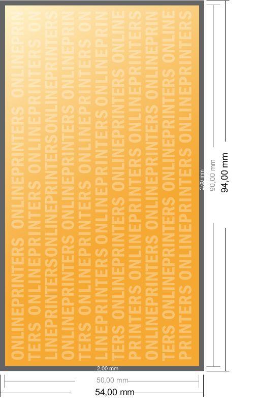 Impression Cartes De Visite Couleurs 4 80x50mm
