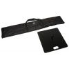Sac (inclus) et plaque de base (en option) d'une taille de 49 x 49 cm et d'un poids de 15 kg