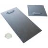 Support en métal autocollant (2 pièces par plaque). Selon la taille et le poids de la plaque, la livraison est effectuée en 10x10cm ou 10x20cm, entretoises en caoutchouc autocollantes incl.