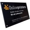 Panneau en PLEXIGLAS® incolore de 4mm avec aspect haute qualité pour l'utilisation à l'intérieur et à l'extérieur. (illustr. similaire)