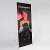 Bannière X modèle exclusif, 500g/m² PVC (classement des réactions au feu B1) pour motifs échangeables avec surface de présentation jusqu'à 140 x 250 cm.