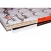coupe transversale :  reliure cousue et reliure à la colle thermofusible/PUR en comparaison