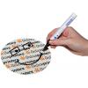 Selon le motif, l'inscription au stylo waterproof est tout à fait possible (malgré une finition au vernis UV sur une grande surface)
