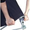 presser le tissu de polyester sur la surface auto-agrippante