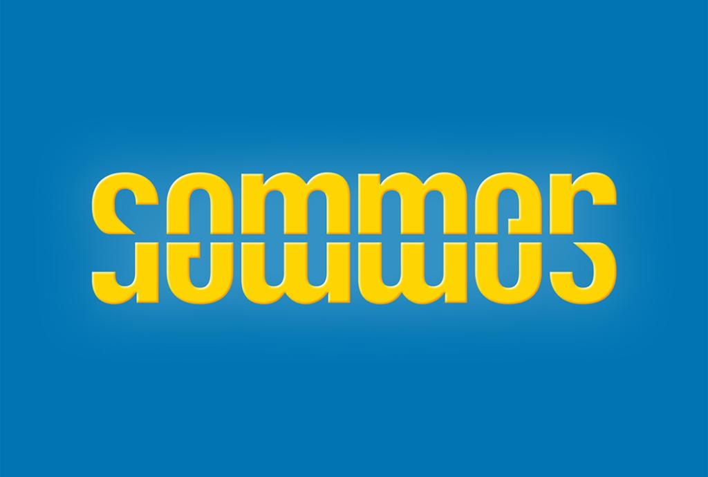 Ambigramme de Sommer, conçu par Roland Scheil, graphiste