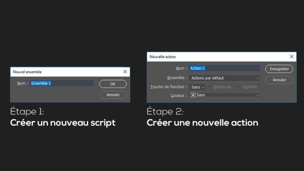 Tutoriel Photoshop: créer une nouvelle action Photoshop