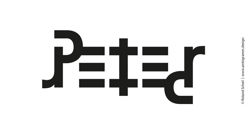un ambigramme pour le nom Peter, variante 2
