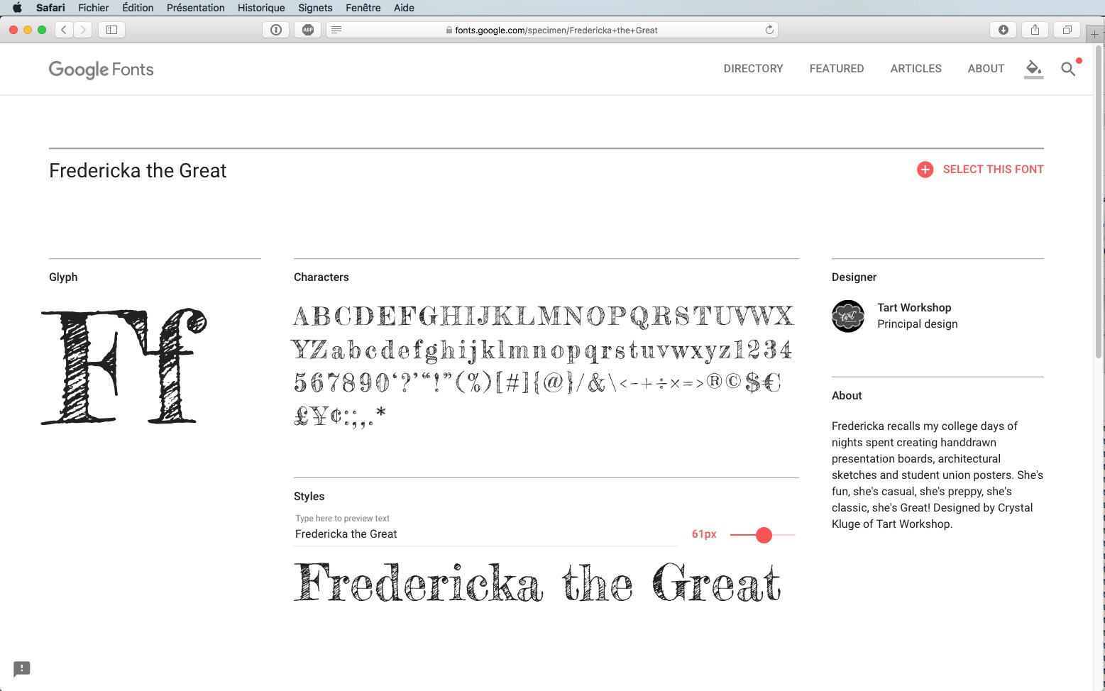 Script-Font Fredericka the Great